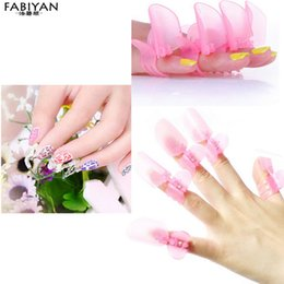 Wholesale Nail Tip Protector - Wholesale- 10Pcs Set Manicure Finger Protective Cover Polish Varnish Shield Protection Clip Armor Protector Nail Art Design Tips Tools DIY