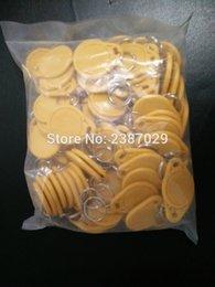 Wholesale Key Card Duplicator - Wholesale- Waterproof ABS Writable 125KHz T5577 RFID Key Ring Keyfobs Keychain Token TAG For Card coppier RFID Duplicator (1000pcs lot)