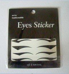 Wholesale Art Eyelashes - 200pc eye art stickers decorate eyelids lasher eyelash eyeliner stickers 3 styles mixed free shipping B01