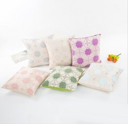 Wholesale Micro Pillow - Jacquard pattern 40*40cm pillow cases Multicolor polyester fiber cushion cover Micro elasticity soft office sofa pillowcase
