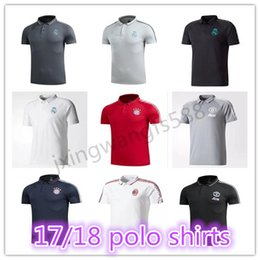 Wholesale france soccer jerseys - top quality 2018 Real Madrid Soccer Jerseys polo shirt 17 18 19 spain germany france maillot de foot Colombia football polo Shirts