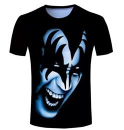 Wholesale Shirt Kiss - Newest Fashion Mens Womens Kiss Gene Simmons Funny T-Shirt Summer Style Funny Unisex 3D Print Casual T-Shirt S---5XL AA398
