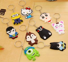 Wholesale Despicable Keyrings - Wholesale Movie Cartoon Despicable Me Key Chain Ring Holder Cute Small Minions Figure Keychain Keyring Pendant Best 2017 Xmas Gifts