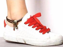 Wholesale Cheap Trendy Jewelry Wholesale - Zipper Anklets Chain 2017 New Unisex Fashion Gothic Punk Rock Zipper Zip Shape Bangle Bracelet Anklet Chain Foot Chain Cheap Jewelry Bronze