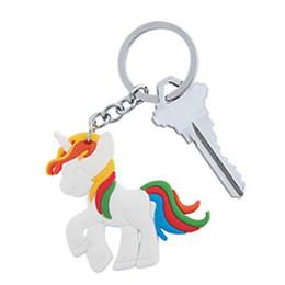 2017 vendita calda 1000 pz / lotto moda cavallo unicorno ciondolo portachiavi carino Pony anelli chiave Hang Bag Jewelry da