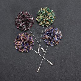 Wholesale Black Baton - New Fashion Men Brooch Flower Lapel pins suit Boutonniere Fabric yarn pin button Mini Flower Baton Broochers Broches for women male Jewelry