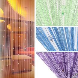 cortinas de cuentas de cristal al por mayor Rebajas Venta al por mayor-1 * 2m Decoración del hogar Bead Crystal Bead Fringe Curtains String Salón Dormitorio Beads Curtain