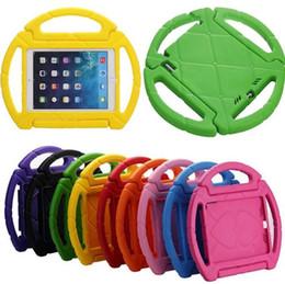 Wholesale Mini Steering Wheel - steering wheel Kids Safe Soft EVA Light Foam Weight ShockProof Handle Protective Case With Stand For iPad 2 3  Ipad Air ipad Mini