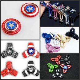 Wholesale Tip Rotation - New Fidget Spinners Toy Hand Spinner Golden Alloy 5Color Metal Multi Style Bearing CNC EDC Finger Tip Rotation Anxiety HandSpinners Toys DHL