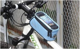 Wholesale Screen For I Touch - Mountain Bike Bag Touch Screen GPS Transparent Bags Waterproof Cycling Sport Pouch Polyester For Summer Multicolor Fashion 18 5yd I
