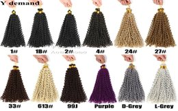 Wholesale Synthetic Water Wave - Water Wave Crochet Braids Freetress Crochet Synthetic Kinky Curly Hair Crotchet Bulk Braiding Hair Extensions Y demand