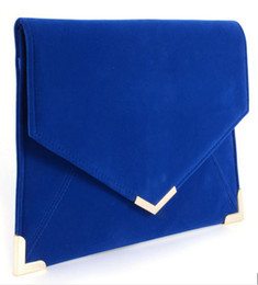 Wholesale Doctor Dot - Foreign trade the original single hot style in Europe and America fashion envelope bag large capacity hand bag flannelette bag shoulder