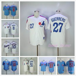 Wholesale Andre Dawson Jersey Expos - Gary Carter Jersey Andre Dawson Pete Rose Vladimir Guerrero Randy Johnson Montreal Expos Baseball Jersey Cool Base Blue White