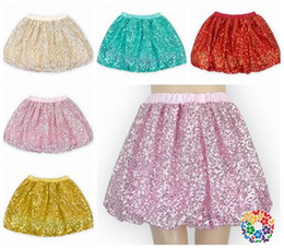 Wholesale Pettiskirts For Girls - 2017 rose gold pink sequin tutu skirts fluffy baby tutu party princess skirt bloomers pettiskirts tutus for girls kids ball gowns boutique