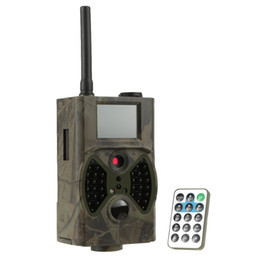 Cámara sms mms online-docooler HC300M Cámara de caza GPRS / MMS / SMS cámara infrarroja digital Trail Scouting vigilancia cámara de caza 940NM IR LED