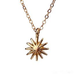 Wholesale Gold Venus - Accomplish Magnificent Things Starburst Venus Pendant Necklace Gold Plated Clavicle Chains Statement Necklace Women Jewelry