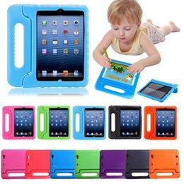 espuma de alça ipad mini Desconto Crianças crianças lidar com suporte de espuma à prova de choque suporte capa para ipad novo 2017 2 3 4 air 2 Mini 4 case Para galaxy tab 3D Bonito portátil