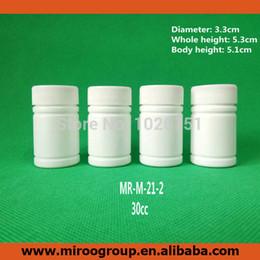 2019 bottiglie contenitori bianchi 100 + 2pcs 30ml 30cc 30g HDPE bianco vuoto farmaceutico capsula contenitore plastica bottiglie di pillola con tappi a vite in alluminio sigillanti sconti bottiglie contenitori bianchi