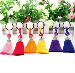 Wholesale Fine Folk - Fine tassel key chain bag car key chain pendant wild jewelry pendant R251 Arts and Crafts mix order