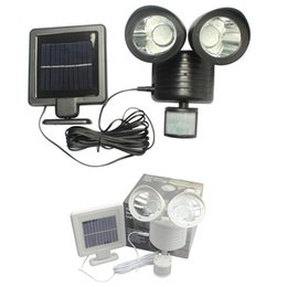 Wholesale Motion Activated Light Sensor - Outdoor Solar Led Wall Pack Lights PIR Motion Sensor Security Lighting Outdoor Indoor Garden Yard Wall Spotlight Motion Activated