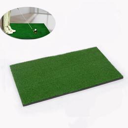 Wholesale Rubber Golf Mat - Wholesale- 1 Piece Backyard Golf Mat Golf Training Aids Hitting Pad Practice Rubber Grass Mat Grassroots Green 60x30cm Drop Shipping