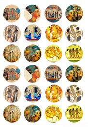 Wholesale Accessories Pharaohs - High quality accessories Y101 Egyptian Pharaoh 24PCs 18mm Glass Snap Buttons For Snap Jewelry DIY Fit Charm Bracelet Necklace