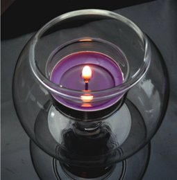 Wholesale Candle Hurricane Wholesale - Glass ball thickening windproof candlestick candlestick inside the candle can be done micro-landscape fish tank wedding decoration home acce