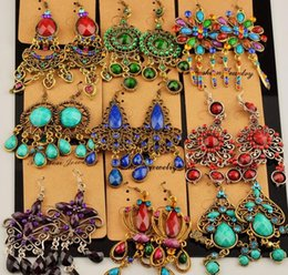 Wholesale High Quality Chandeliers - Madam   girl high quality vintage jewelry earrings crystal gemstone Tassels long earrings for women Sway about Hanging Earrings