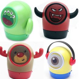 Wholesale Kid Mp3 Speakers - Hot 4 kinds Mini Minions bluetooth speaker portable Mic TF Handsfree call Despicable Me cartoon kid gift caixa de som children