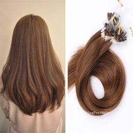 "Wholesale Micro Loop Indian Virgin - 300S 18""-28"" 7A Micro Loop Hair Extension Virgin indian Hair 1g 100s lot Pre-bonded Hair Human Micro Ring Hair"