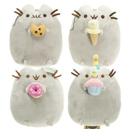 Wholesale Green Cookies - 4 styles 15cm Lovely Pusheen Cat Cookie & Icecream & Doughnut & Cake Stuffed Plush Animals doll Toys for kids christmas gifts