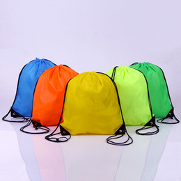 Wholesale Marketing Sale - Hot Sale 35*40CM Drawstring Bag Tote Bags,Multicolor Waterproof Backpack Folding Bags Marketing Drawstring Storage Bag