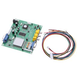 Wholesale Video Board Games - Portable Genuine GBS8200 5V Active Low 1 Channel Relay Module Board CGA   EGA   YUV   RGB To VGA Arcade Game Video Converter for CRT Monitor