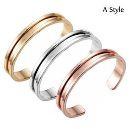 Wholesale Style Hair For Girl - Fashion Womens Hair Tie Holder Bracelet Bangle Rose Gold Silver Gold 3 Style Bangle Bracelets Cuff Jewelry For Girls Women