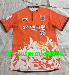 Wholesale Japan League - Japan Jerseys 2017 Jeju United FC Soccer Jerseys 17 18 K LEAGUE Jeju United Home Soccer Jersey Maillot De Foot Football shirts