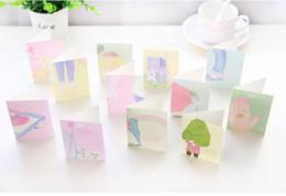Wholesale Diy Lomo - Wholesale- 5pcs lot 9*6.5cm DIY MINI kawaii cartoon envelope with greeting card Holiday card for message Birthday Christmas lomo gift card