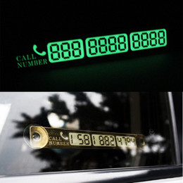 Wholesale Parking Phone Number - Car accessory Auto Luminous Phone Number Parking Card Stickers for Mazda 3 6 CX-5 Skoda Octavia 2 A7 A5 Rapid Fabia Superb