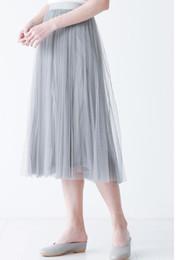 Wholesale Girls Tutu S Cheap - Cheap light gray Tutu Skirt For Girls Or Women simple style Tulle Skirt Weddings And Formal Wear