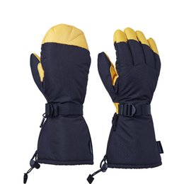 Wholesale Soccer Mittens - Mens Ski Leather OZERO Gloves Snowboard Motorcycle Riding Winter Full Finger Gloves Windproof Waterproof Unisex Snow Mittens OZERO Gloves