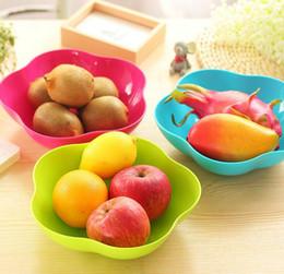 fiore di stile Sconti Piatti di frutta di piatti di moda colorati piatti di caramelle stile europeo Food grade PP materiale plum blossom e piazza