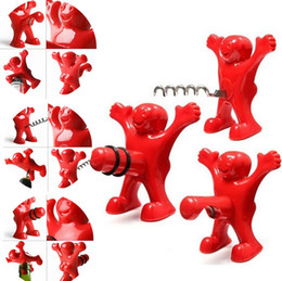 Wholesale Wine Opening Tools - 10PCS LOT happy man open bottle opener A spoof on Red wine stopper  Beer bottle opener Bottle Favors Bar Tools 4041