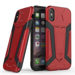 Wholesale Ironman Iphone Case Wholesale - Kickstand Shockproof Armor Hybrid Case For Iphone X Galaxy Note8 Note 8 Hard Plastic+TPU Ironman Skin Holder Defender Gel Cover
