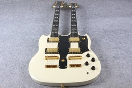 Wholesale Ems Electric Guitars - Wholesale- High Quality SG Double cream Neck Electric Guitar SG 1275 Model cream Finish For Sale EMS free shipping
