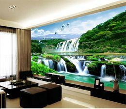 mural de flores de pêssego Desconto 3d enorme mural romântico flor de pêssego papel de parede fundo sofá TV pano de fundo papel de parede murais papel de parede