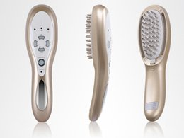 Wholesale Comb Massager - Rechargeable 3 in 1 Laser LED Light Micro Current Hair Brush Hair Growth Massager Health Comb