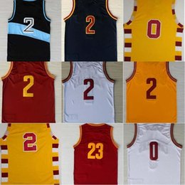 Wholesale Lebron Logo - Top Quality 0 Kevin Love 2 Kyrie Irving 23 LeBron James Mens Cheap Basketball Jersey Stitched Logo