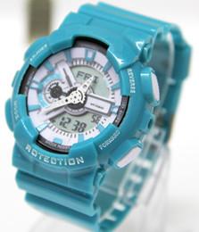 Wholesale Boys Wristwatch Led - New shock relogio 110 men's sports watches, LED chronograph wristwatch, military watch, digital watch, good gift for men & boy