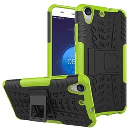 Wholesale Galaxy Note Ii Cases - Shockproof Tire TPU PC Hard Case For Huawei Honor V9 P10 Lite Plus Y6 II Mate 9 PRO Galaxy NOTE 8 J2 Prime Hybrid Dazzle Stand Armor Skin