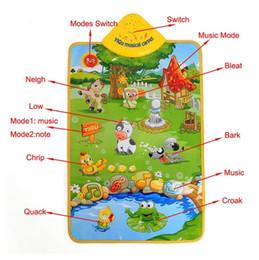 Wholesale Music Carpet - Free Shipping !!! Baby Children Farm Animal Music Sound Touch Play Singing Gym Carpet Mat Toy Gift