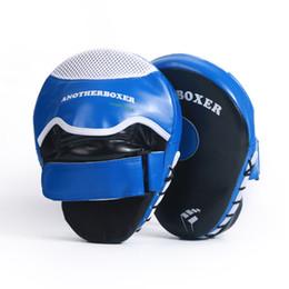 Wholesale wholesale karate - New Boxing Hand Target Super MMA Punch Pad Focus Sanda Training Gloves Karate Muay Thai Kicking Pad Wemen Men Fitness 2pcs lot